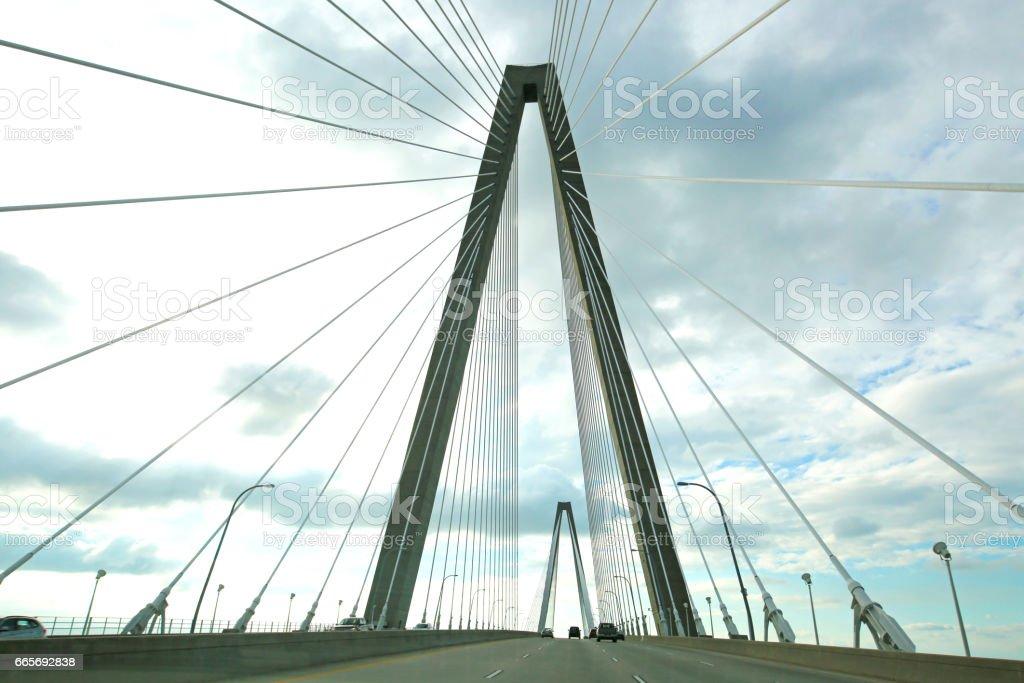 Charleston South Carolina Bridge stock photo