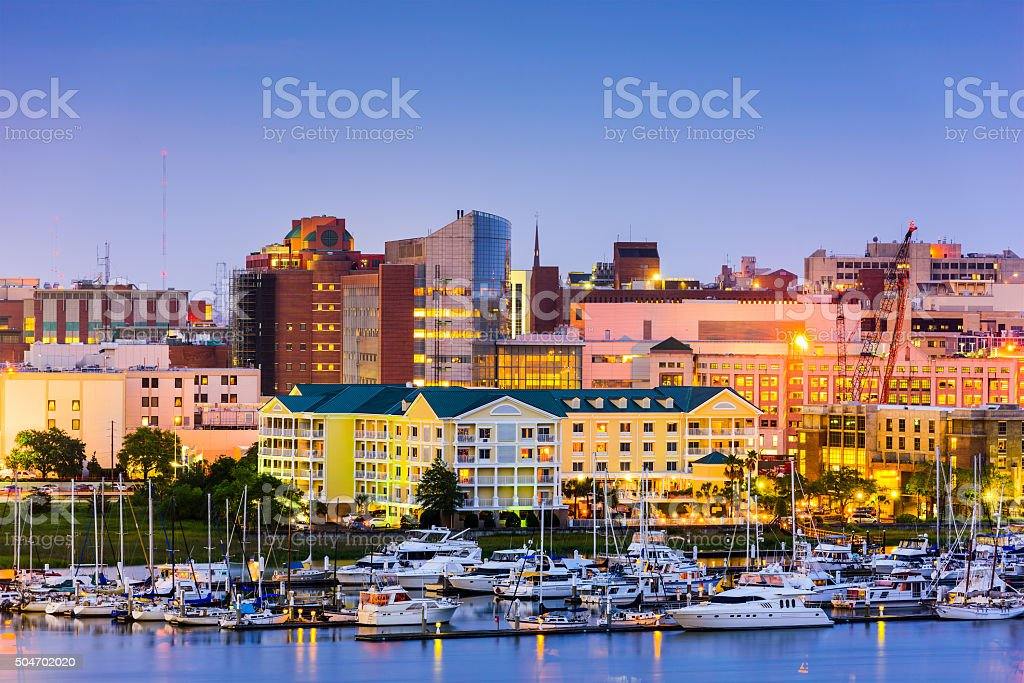 Charleston, South Carolina Cityscape stock photo