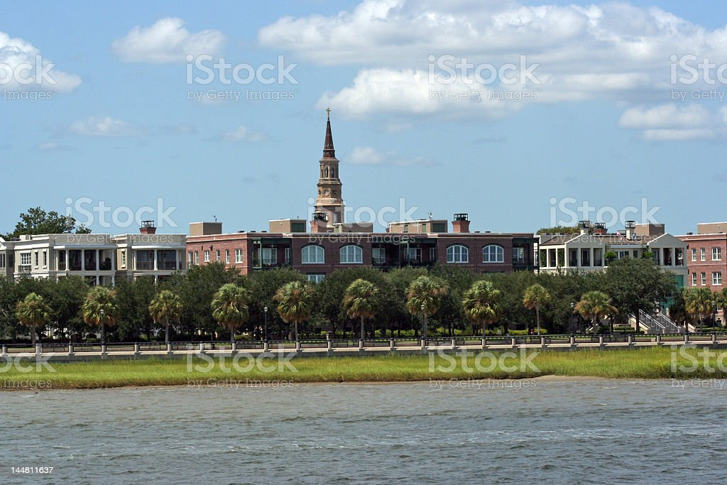 Charleston South Carolina from the Bay royalty-free stock photo