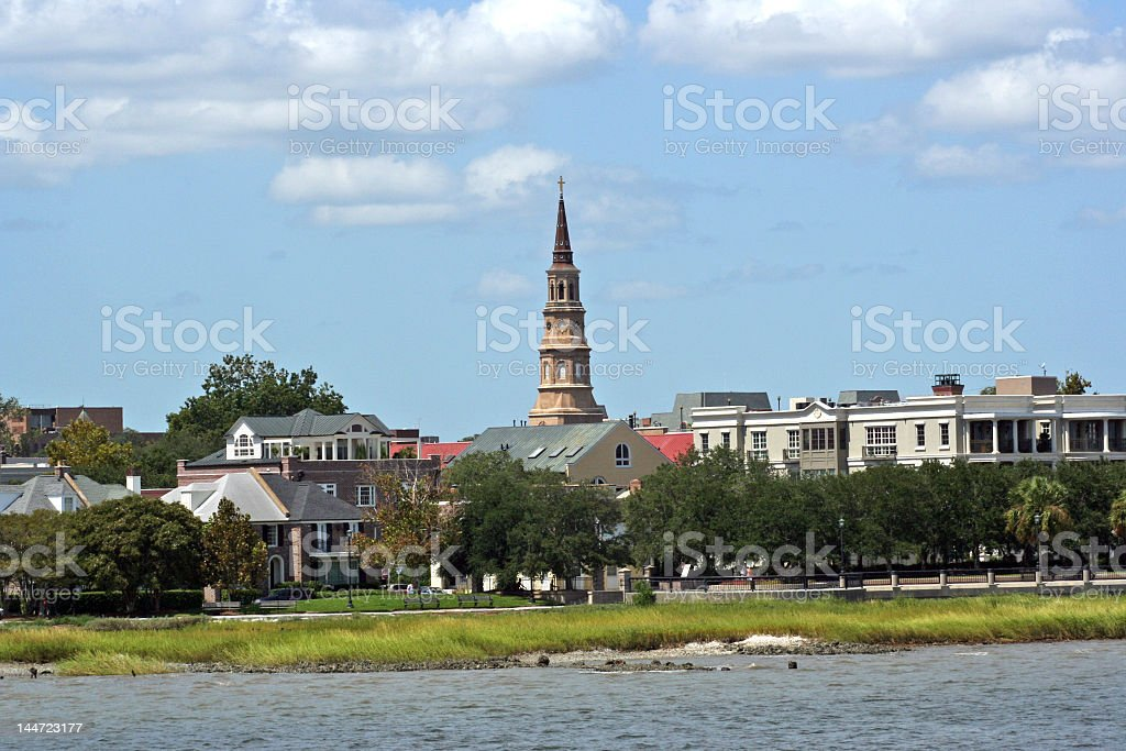Charleston South Carolina from the water royalty-free stock photo