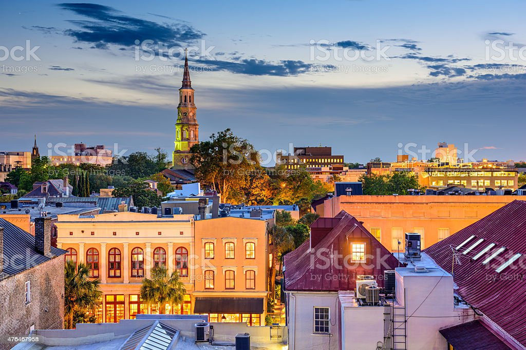 Charleston South Carolina Skyline stock photo