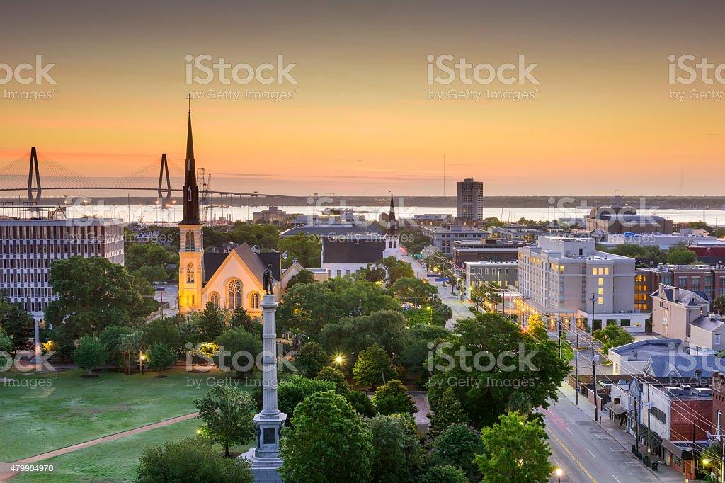 Charleston South Carolina Skyline stock photo