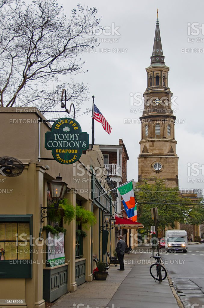 Charleston Street Scene stock photo