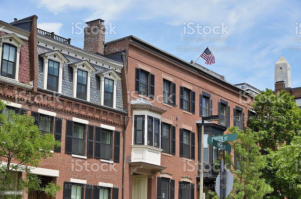 Charlestown, Boston stock photo