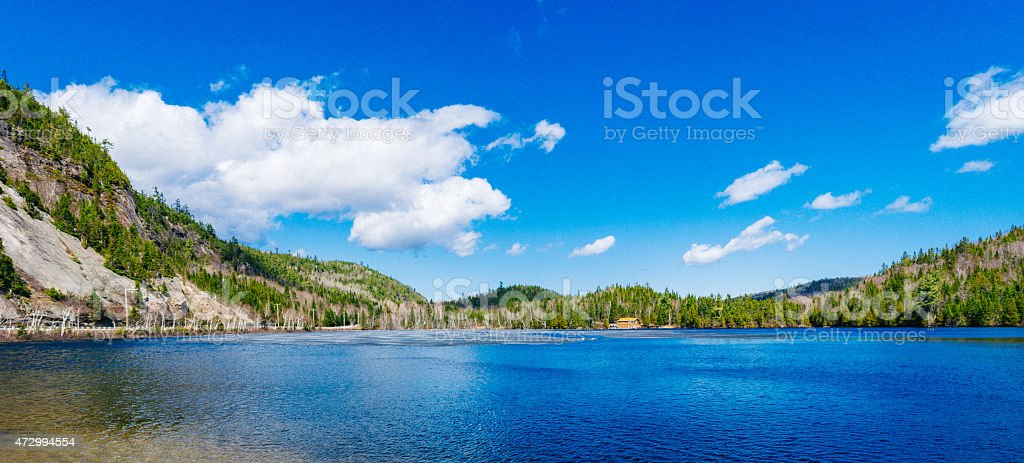 Charlevoix landscape next to La Malbaie stock photo