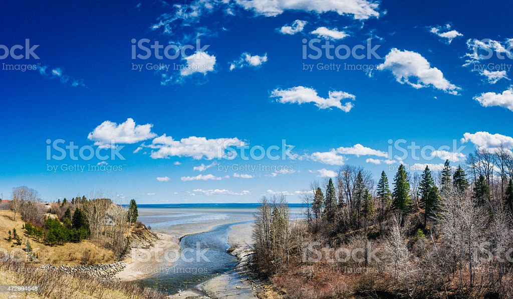 Charlevoix landscape stock photo