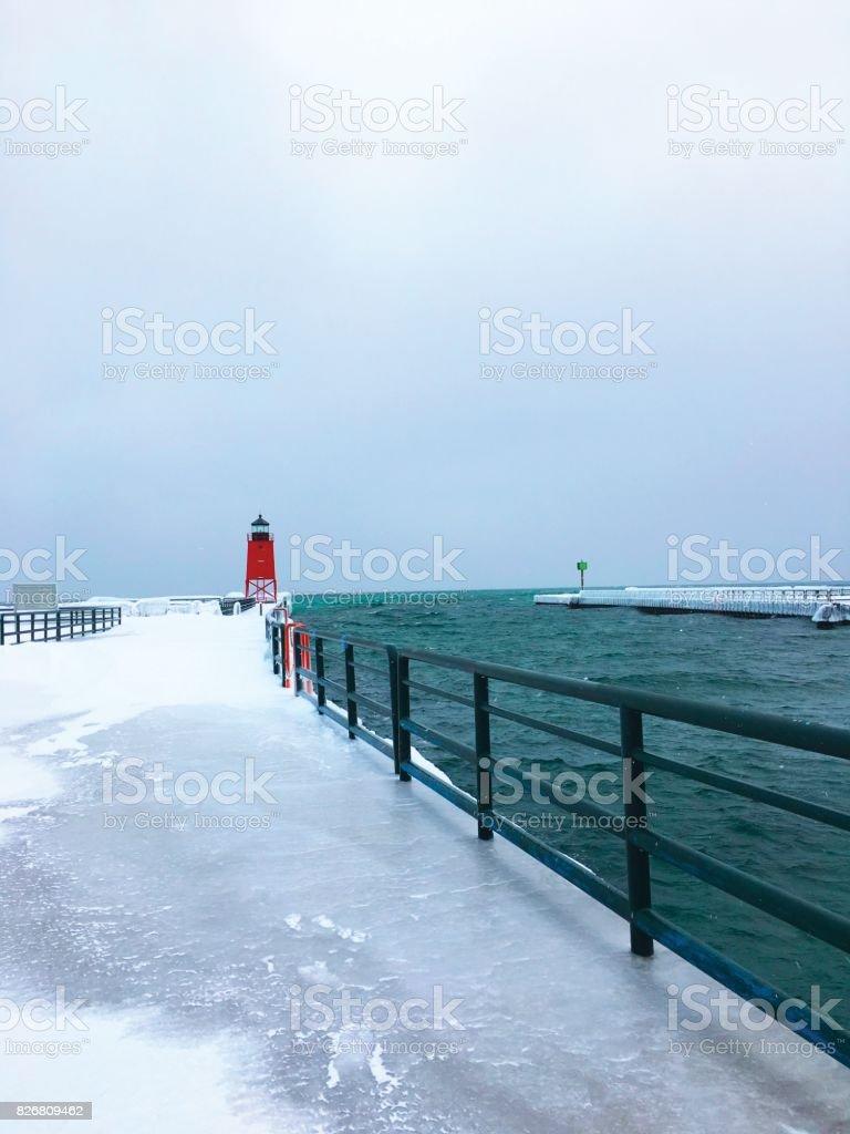 Charlevoix Lighthouse stock photo