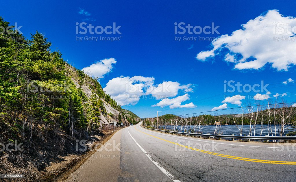 Charlevoix Road stock photo