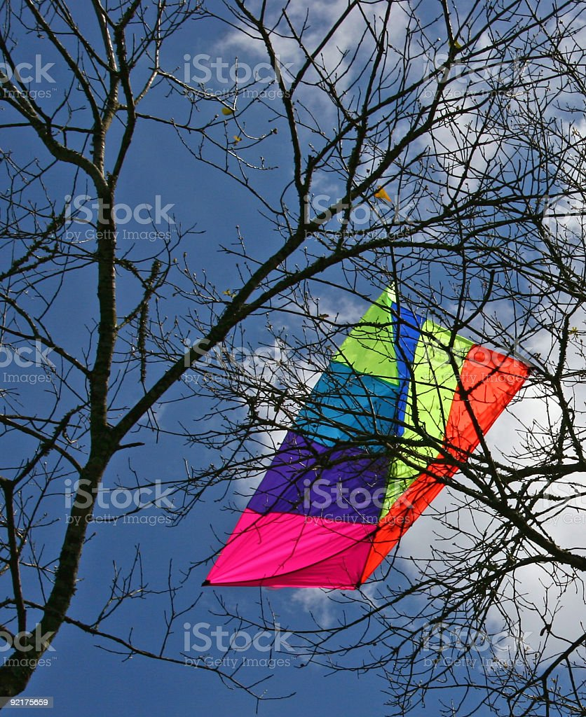 Charlie Brown kite. stock photo