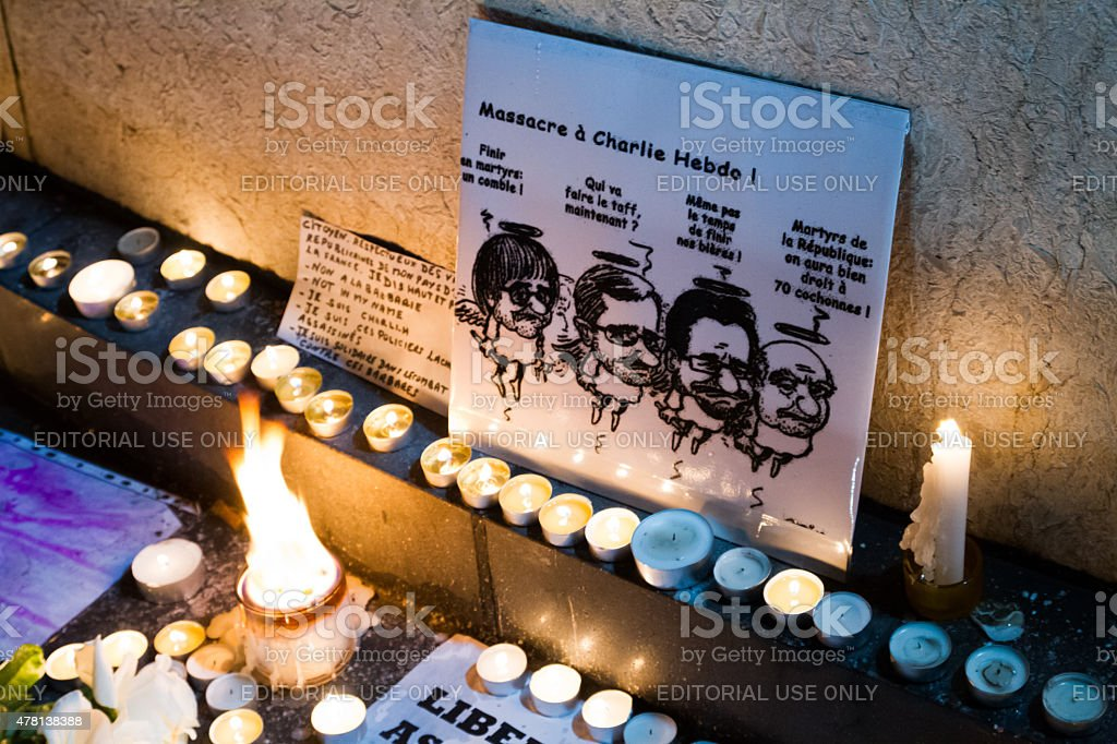 Charlie Hebdo commemoration royalty-free stock photo
