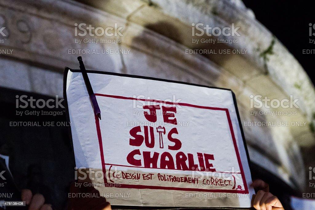 Charlie Hebdo - Je Suis Charlie royalty-free stock photo