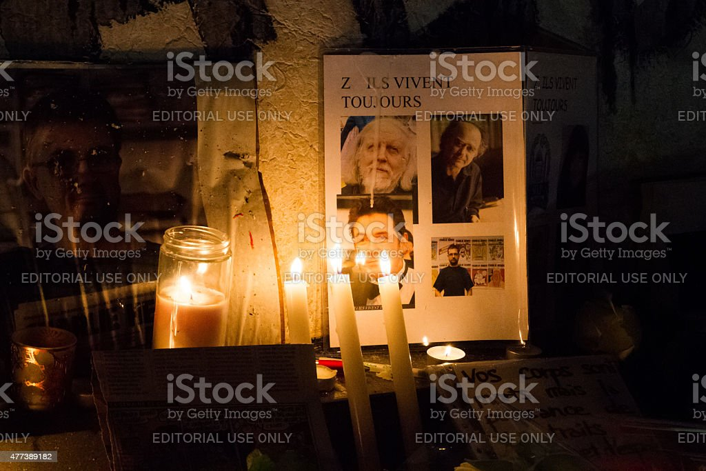 Charlie Hebdo peaceful commemoration royalty-free stock photo