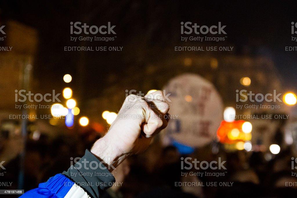 Charlie Hebdo rally royalty-free stock photo