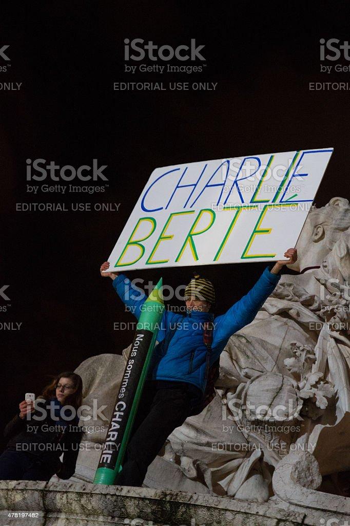 Charlie Hebdo sign royalty-free stock photo