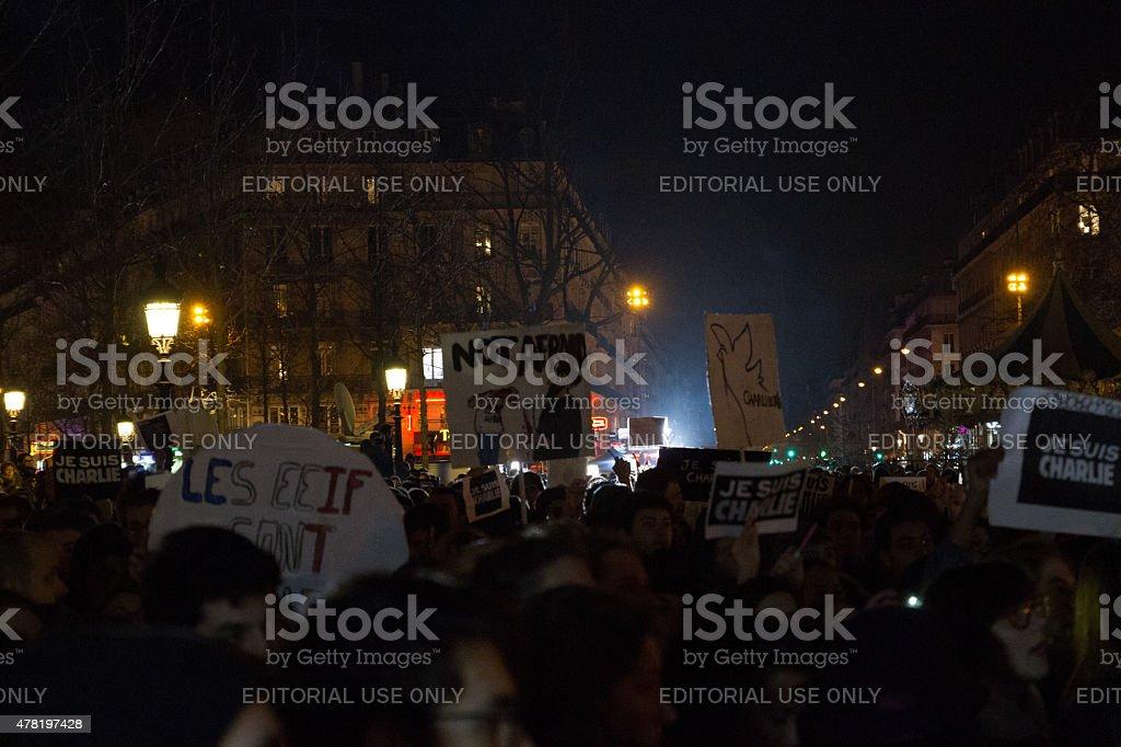 CHarlie Hebdo unity rally royalty-free stock photo