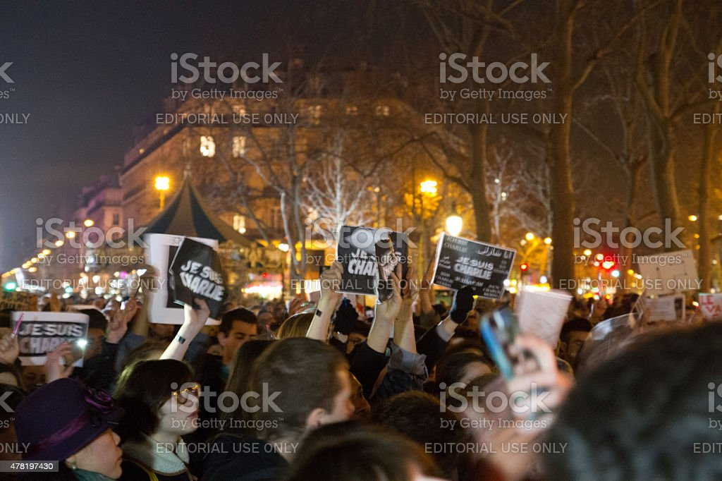 CHarlie Hebdo Unity Rally royalty-free stock photo