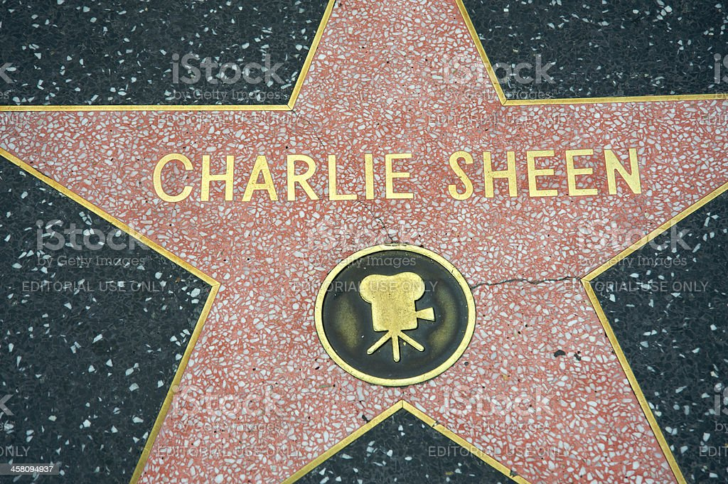 Charlie Sheen royalty-free stock photo