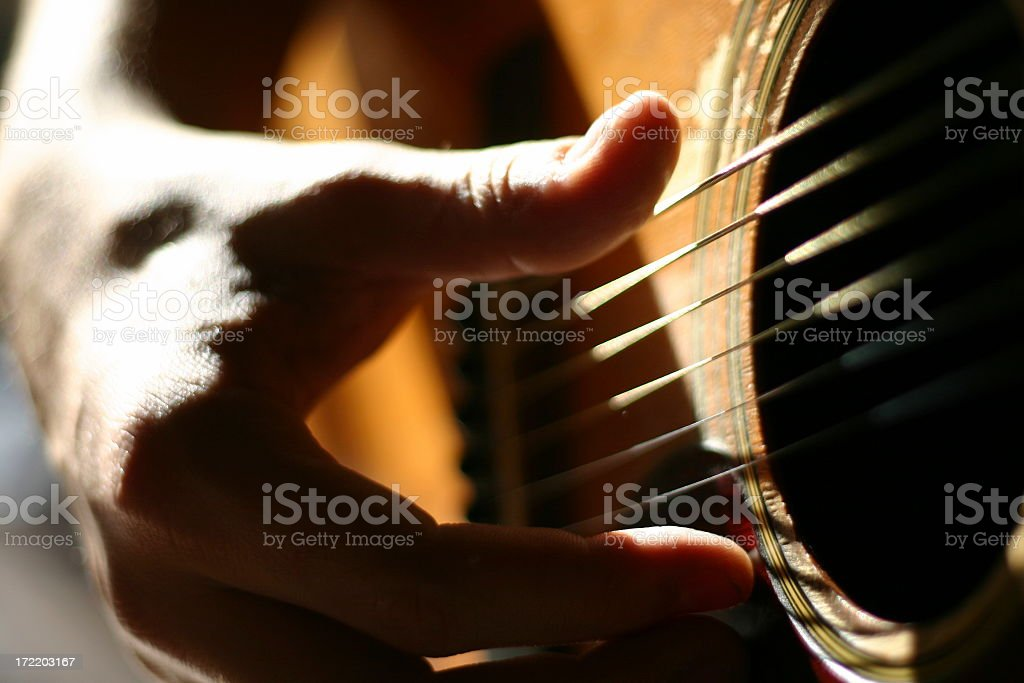 Charlie's Guitar (1) royalty-free stock photo
