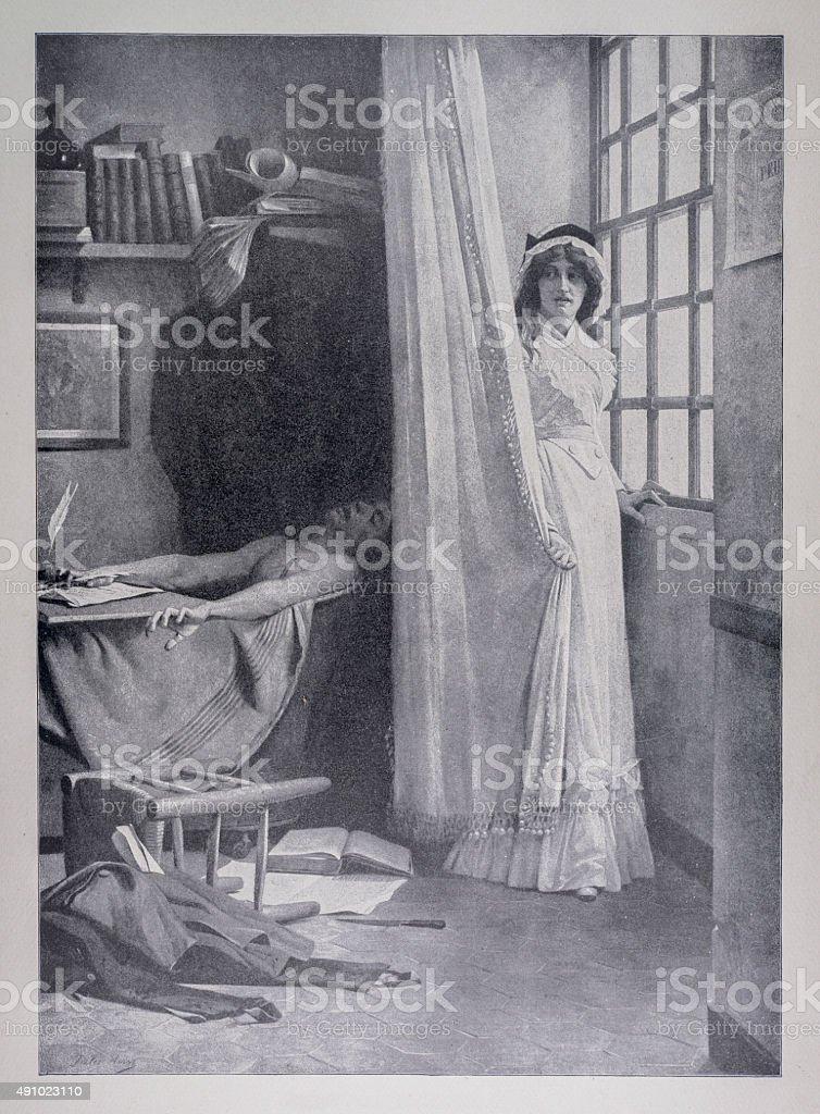 Charlotte Corday And Marat stock photo