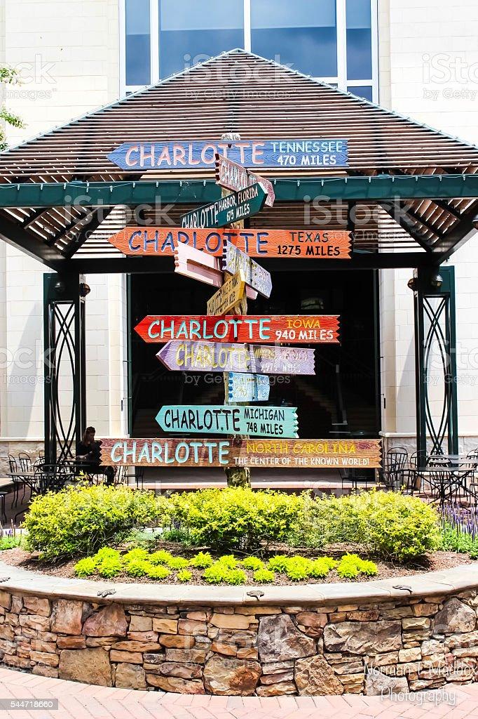 Charlotte, NC Destination post stock photo