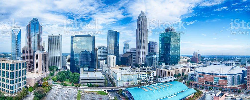 charlotte north carolina city skyline and downtown stock photo