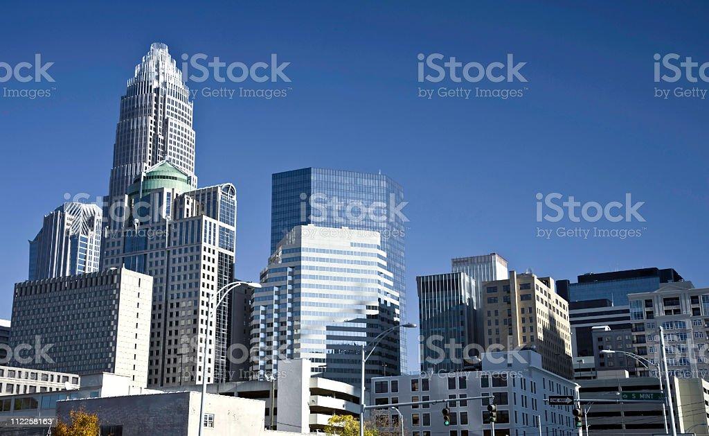 Charlotte North Carolina financial district stock photo