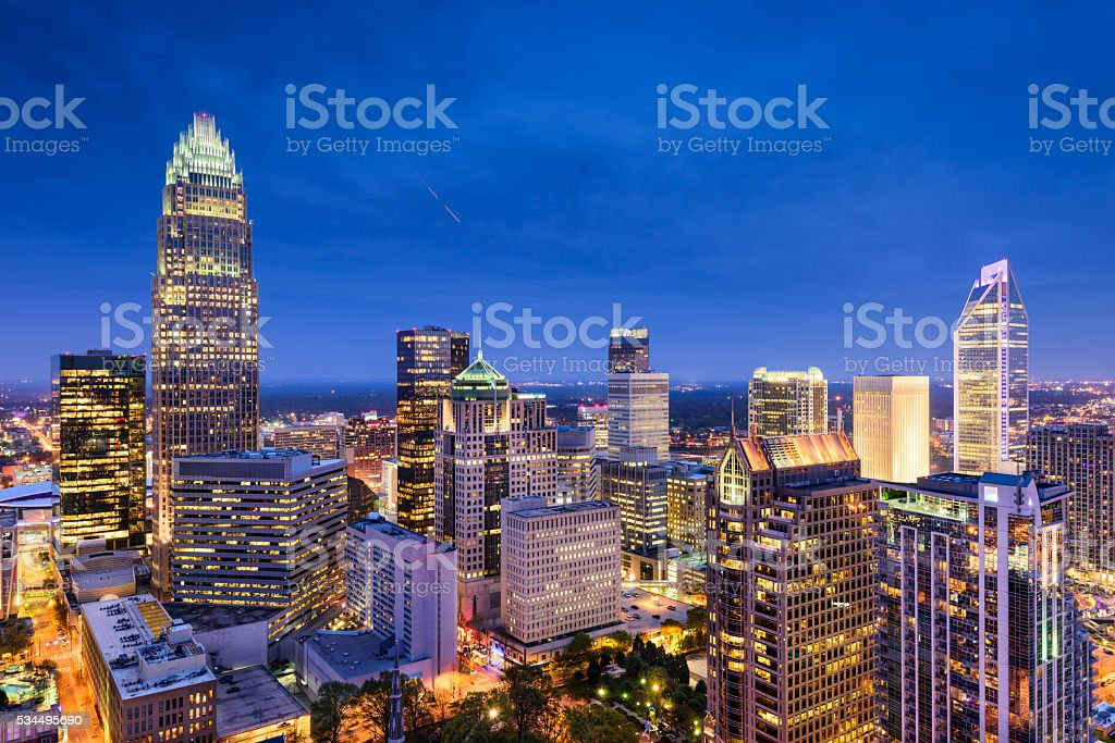 Charlotte North Carolina stock photo