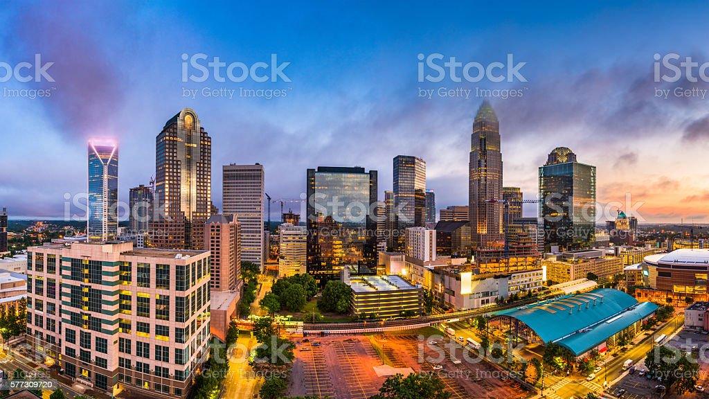 Charlotte, North Carolina Skyline stock photo