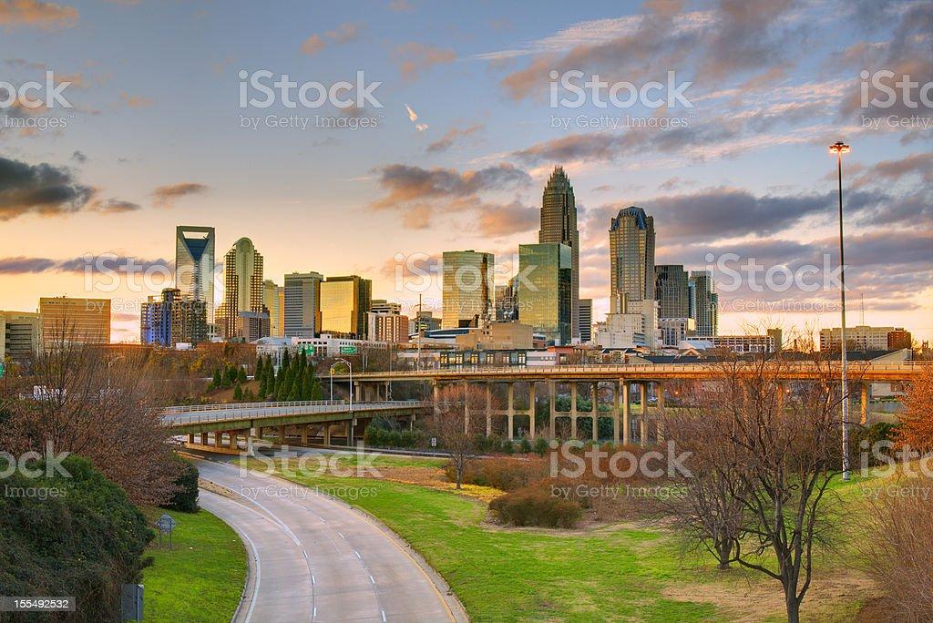 Charlotte Skyline stock photo