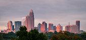 Charlotte sunrise skyline