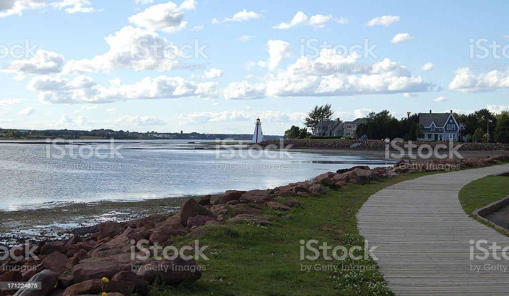 PEI Charlottetown Boardwalk stock photo