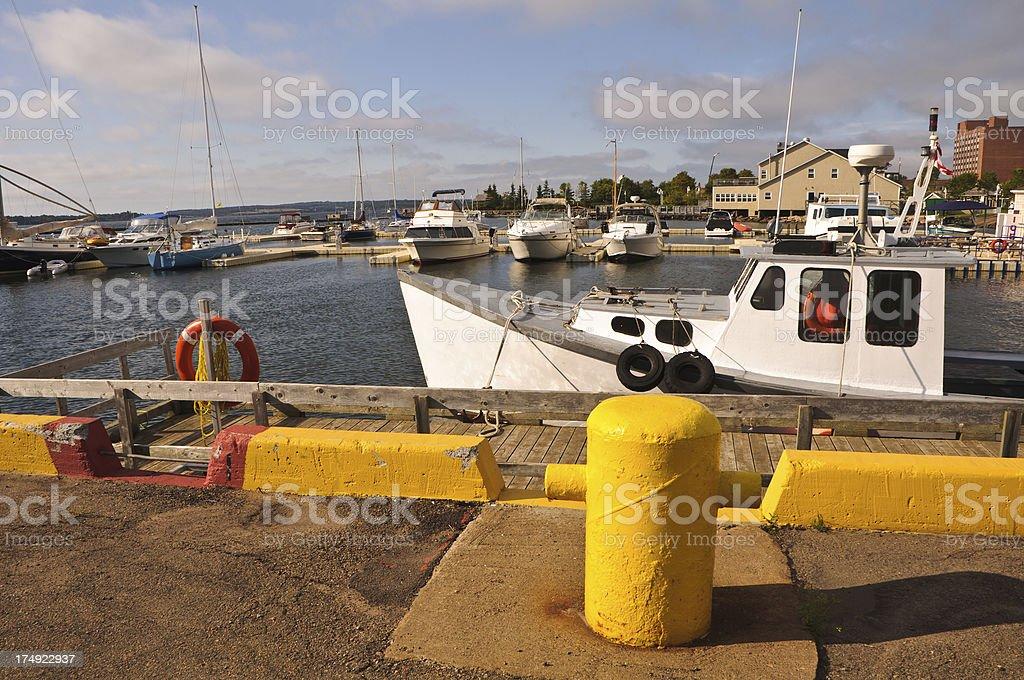 Charlottetown Marina stock photo