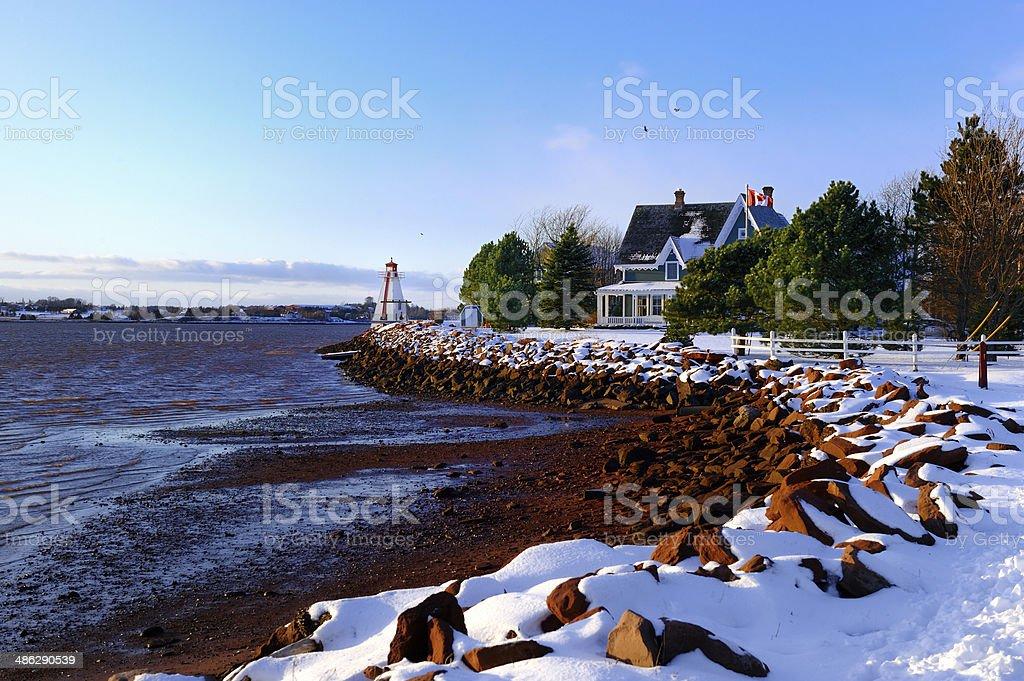 PEI Charlottetown Winter stock photo