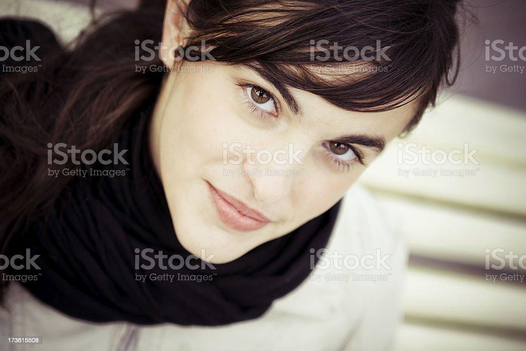 charmed glance stock photo