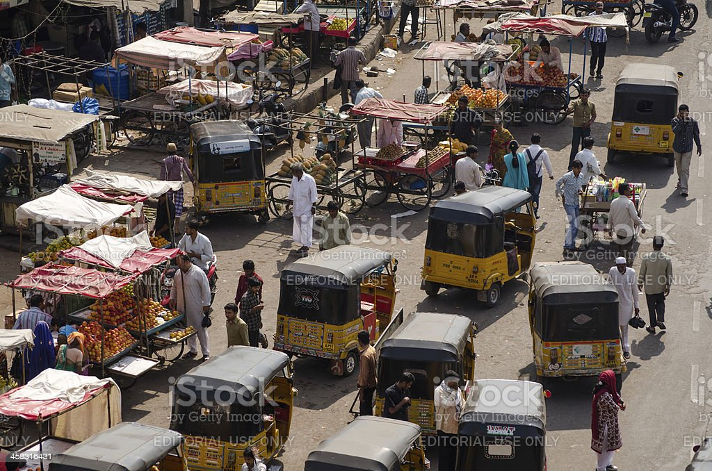 Charminar Bazaar, Hyderabad royalty-free stock photo