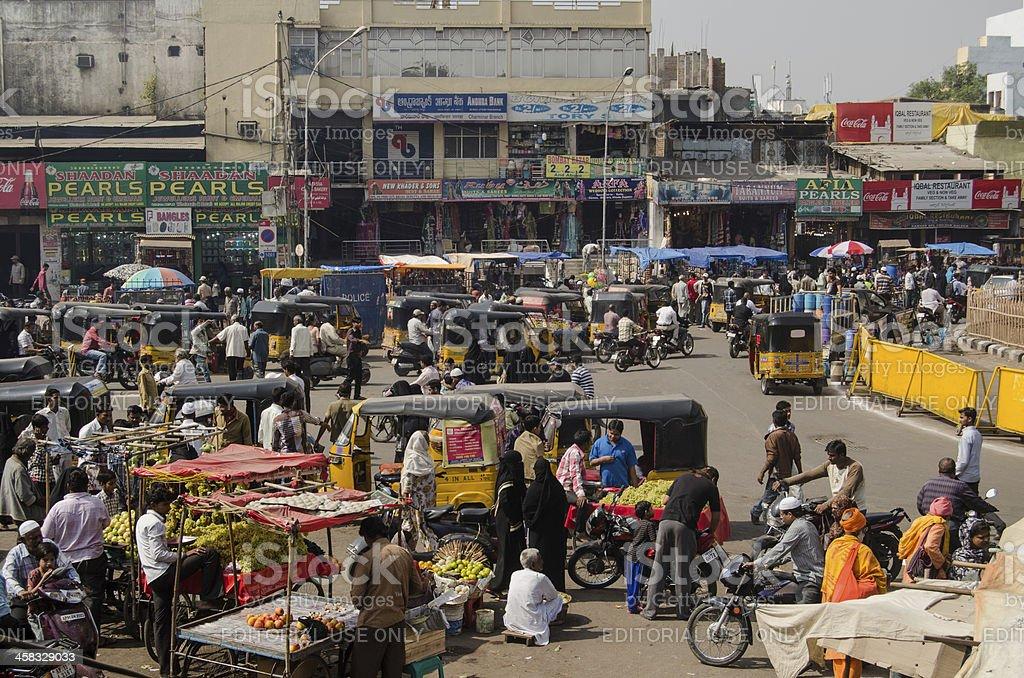 Charminar market, Hyderabad stock photo