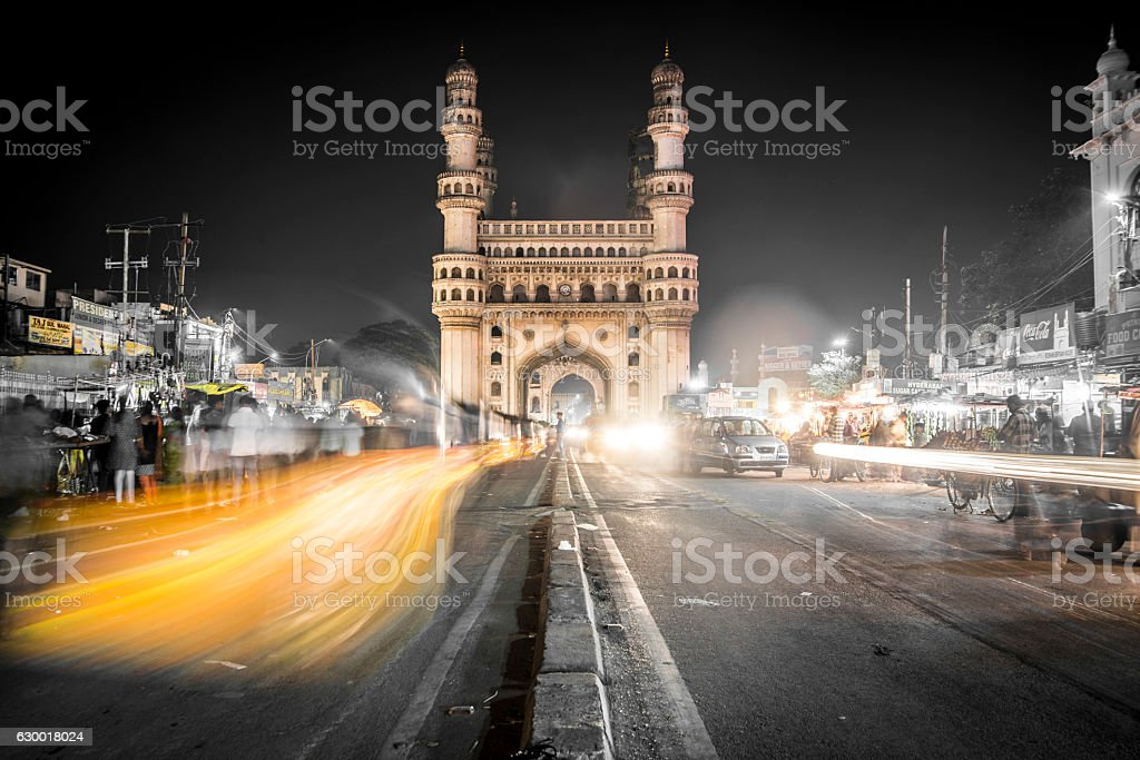 Charminar Mosque in Hyderabad, India stock photo