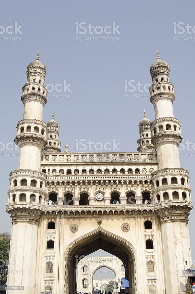 Charminar tower, Hyderabad stock photo