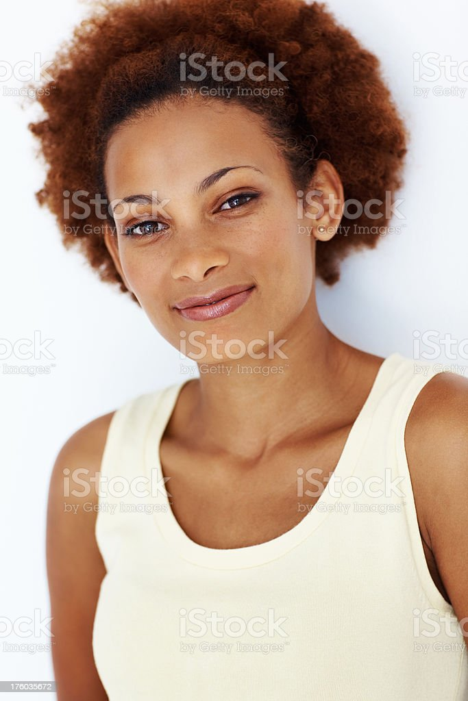 Charming African American woman stock photo