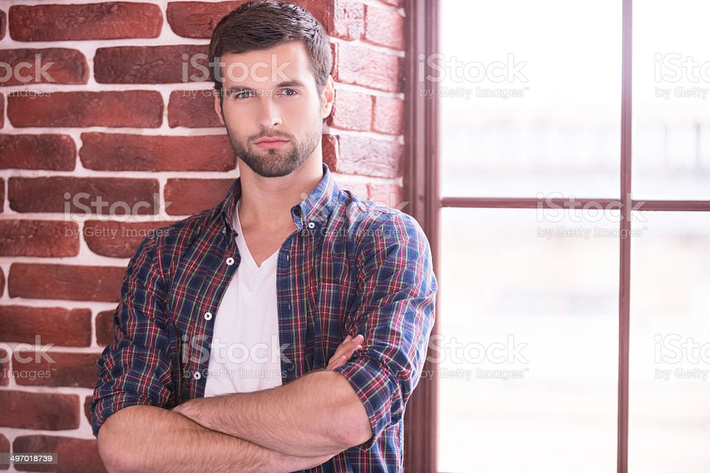 Charming and confident. royalty-free stock photo