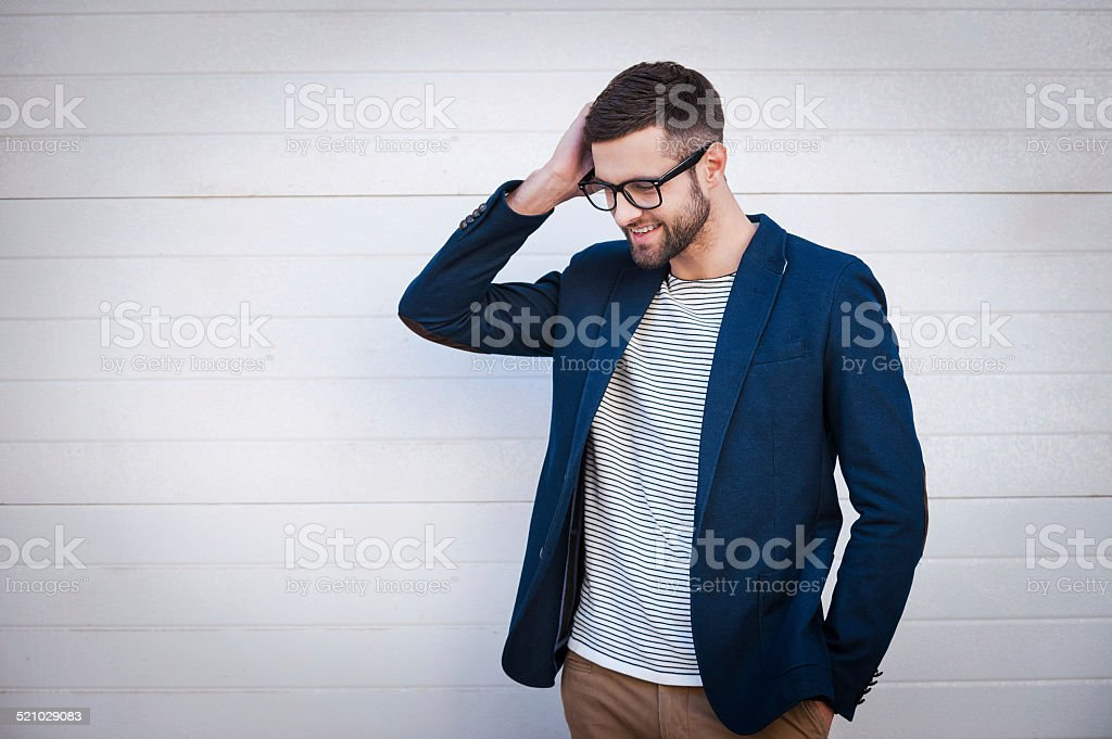 Charming and self-confident. stock photo