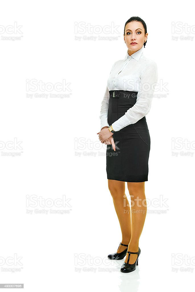 charming business lady stock photo