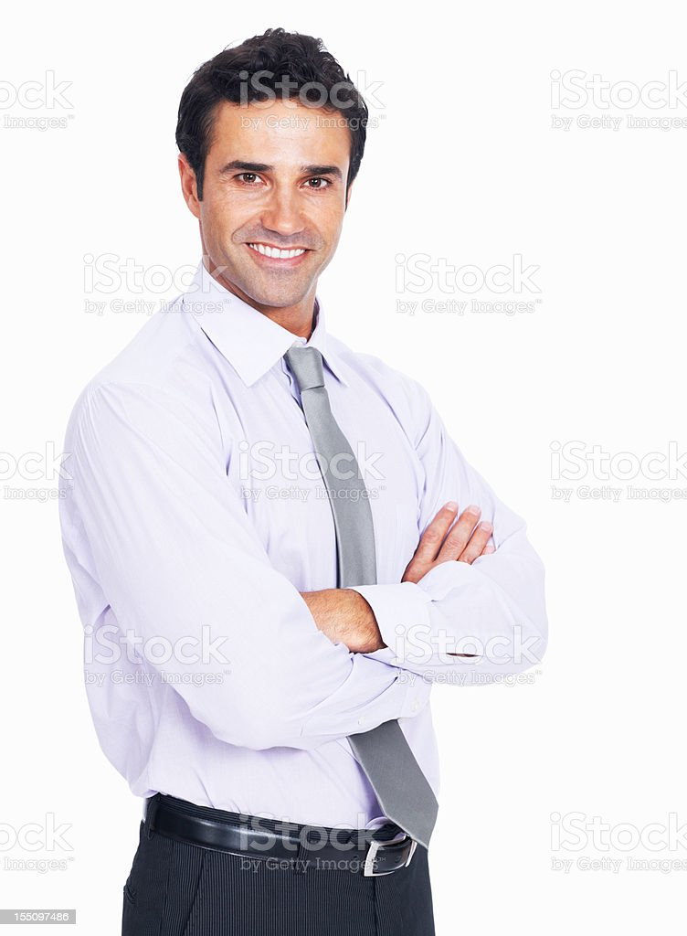 Charming business man smiling royalty-free stock photo
