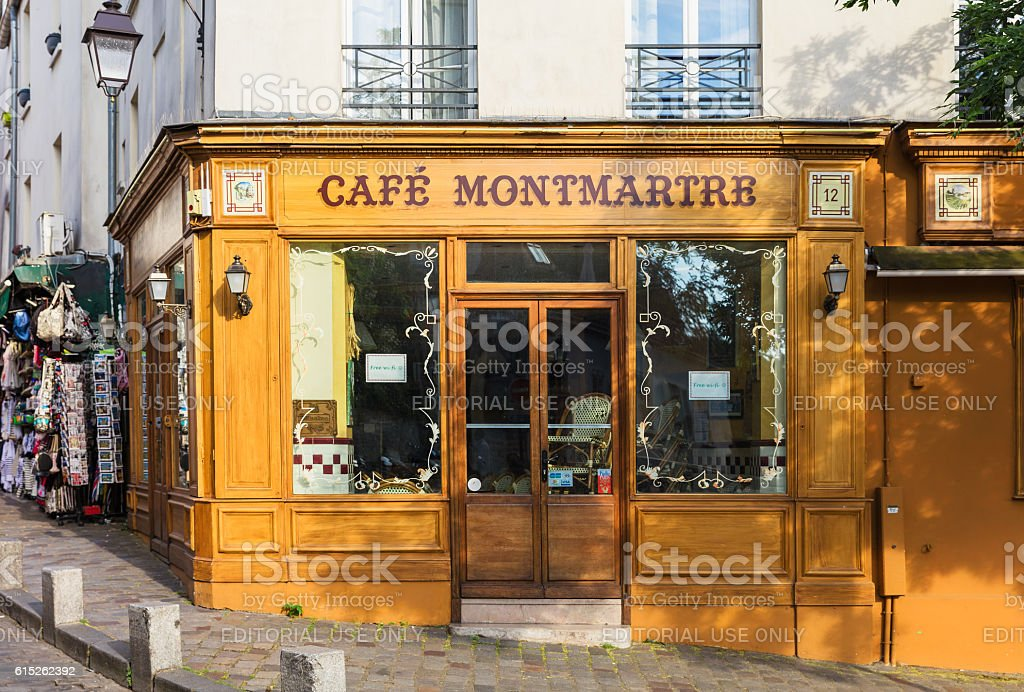 Charming Cafe Montmartre on Montmartre hill, Paris, France royalty-free stock photo