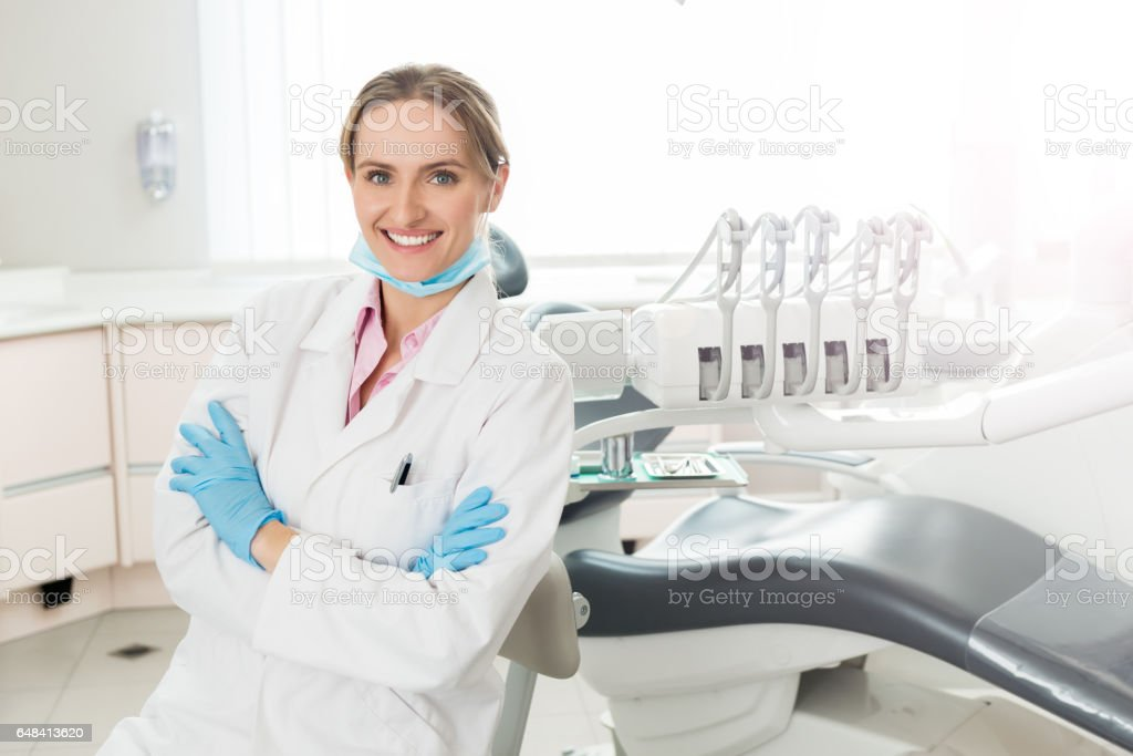 Charming female surgeon stock photo
