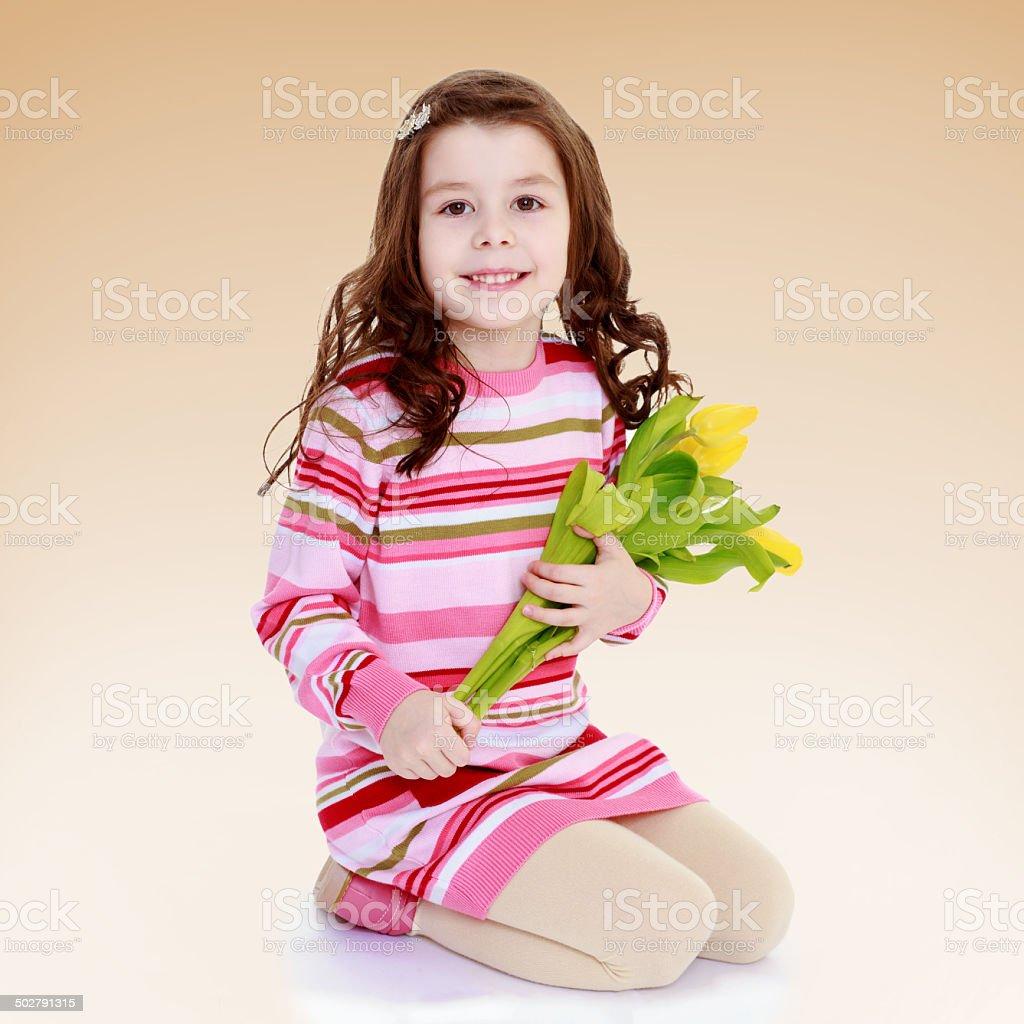 Charmante jeune Écolière photo libre de droits