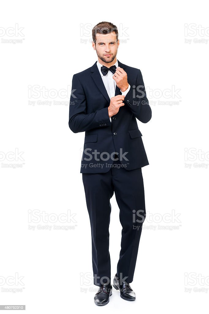 Charming handsome stock photo