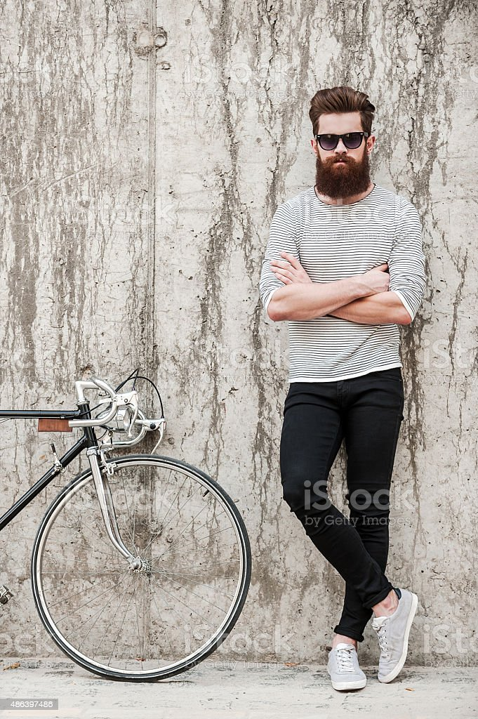 Charming handsome. stock photo