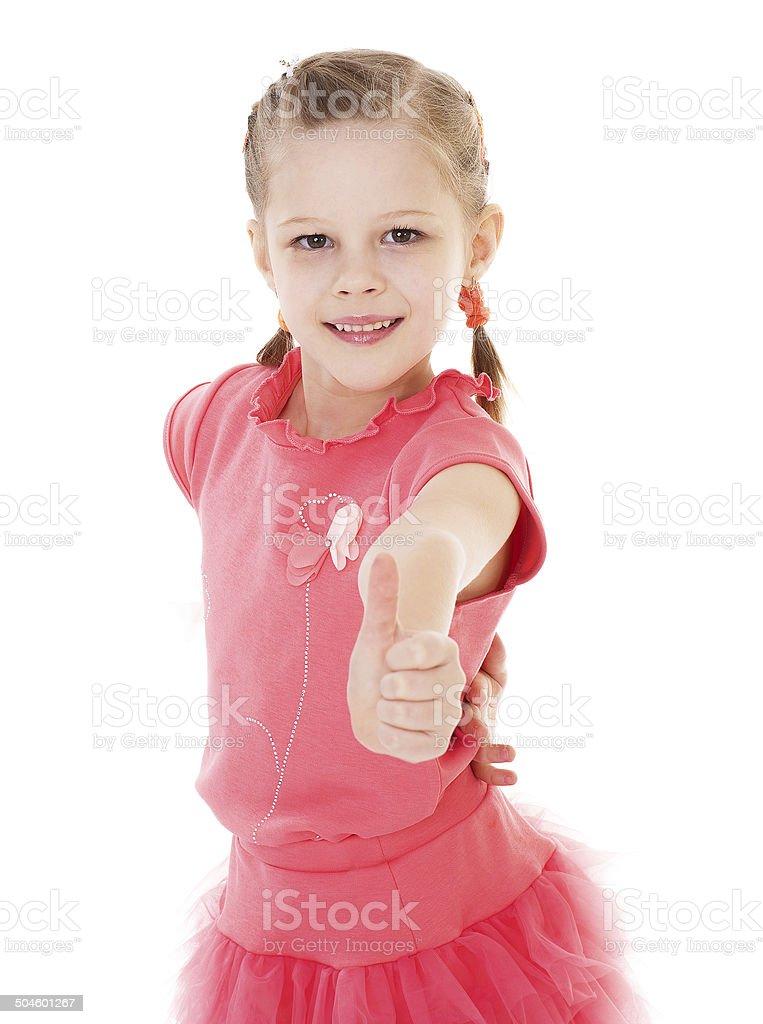 Adorable petite fille photo libre de droits
