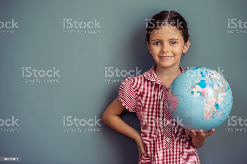 Charming little girl stock photo